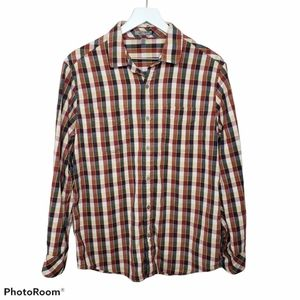 Horny Toad Red & Blue Plaid Button Down Shirt